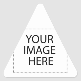 Add Image Text Logo Here Make Your Own Cool Design Triangle Sticker