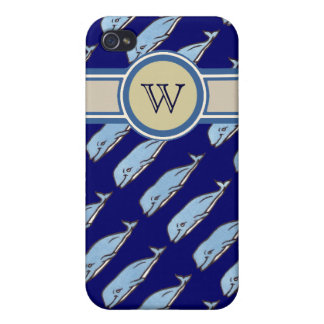 add initial to whales pern cover for iPhone 4