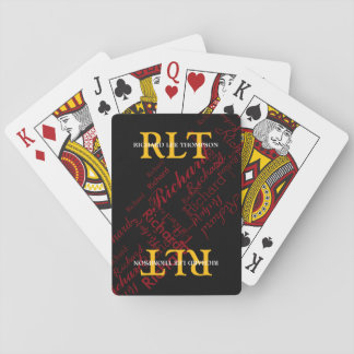 add initials and name to get personalized playing cards