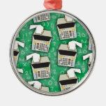 Add It Up Adding Machine Pattern Christmas Ornaments