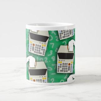 Add It Up Adding Machine Pattern Extra Large Mug