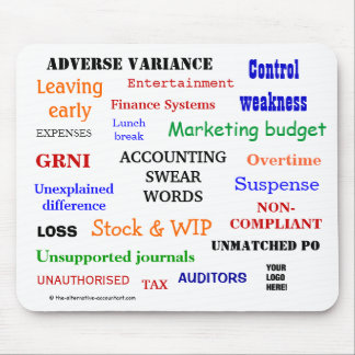 Add Logo Accounting Swear Words Mouse Pad