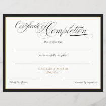 Add Logo Certificate of Completion Award