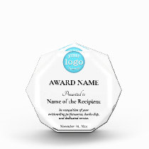 Add Logo Employee Team Top Performers Presentation Acrylic Award