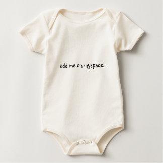 add me on myspace.. baby bodysuit
