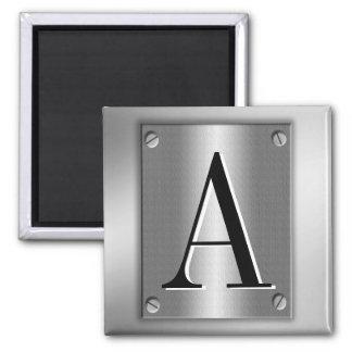Add Monogram On Metal Look With Screws Magnet