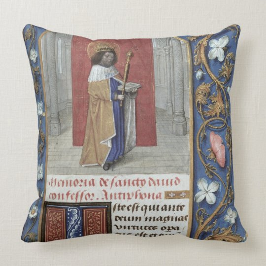 Add Ms 54782 f.40 St. David, from the Hastings Hou Throw Pillow