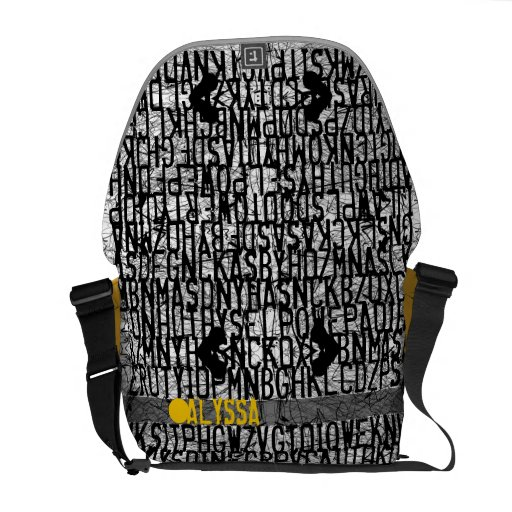 Add Name Alphabet Code Yellow Bag Messenger Bags
