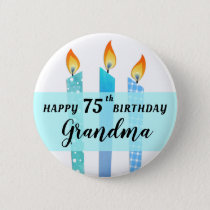 Add Name and Age Cool Candles Happy Birthday Gift Button