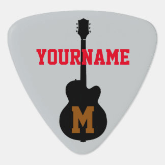 add name and initial guitar pick