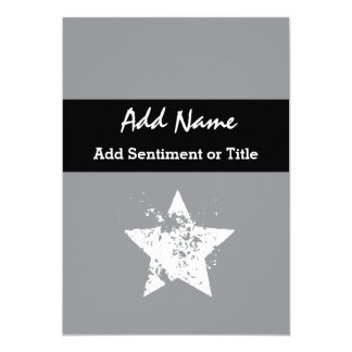 Add Name and Sentiment Gray Custom Name G06 Card