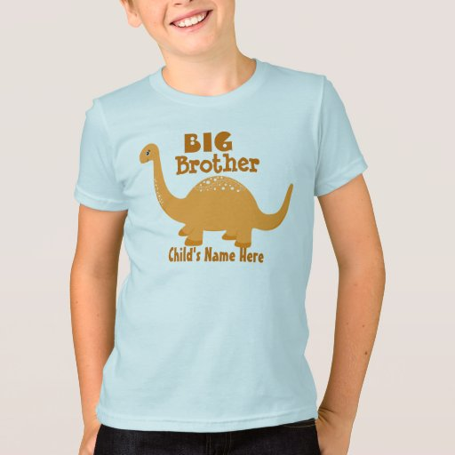 Add name big brother dinosaur print t shirt zazzle for Print name on shirt