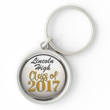 Beach Themed Add Name Class Of 2017 Graduation Keychain