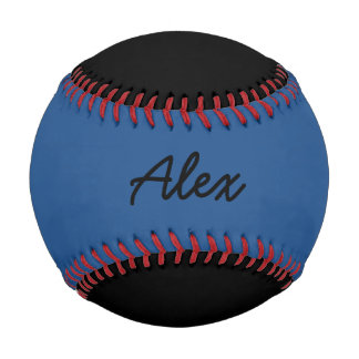 Add Name Custom Black and Blue Baseball