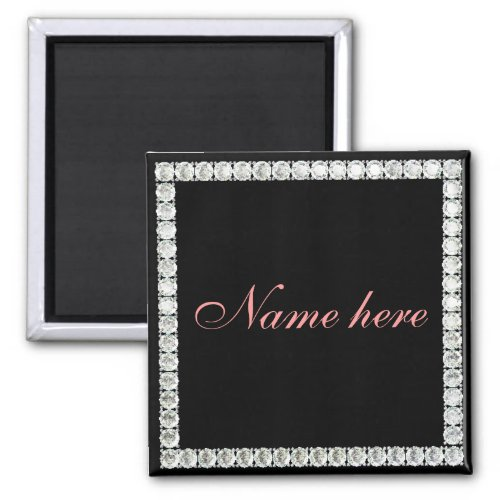 Add name_customizable diamond magnet