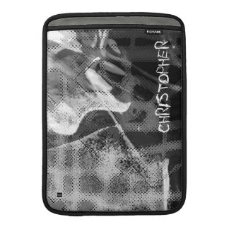 Add Name Gray Abstract Photo MacBook Air Sleeve