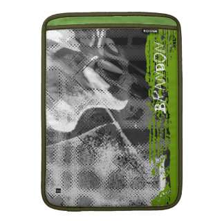 Add Name Green Abstract Photo MacBook Air Sleeve