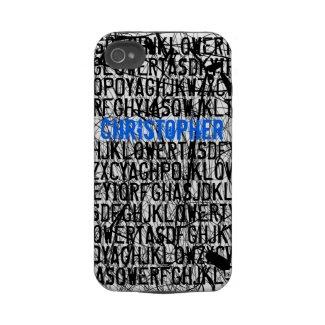 Add Name Letter Code Blue iPhone 4 Case-Mate Case casematecase