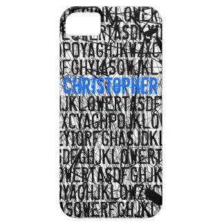 Add Name Letter Code Blue iPhone 5 Case-Mate Case