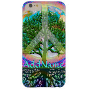 Add Name | Peace Tree Barely There iPhone 6 Plus Case (<em>$42.20</em>)