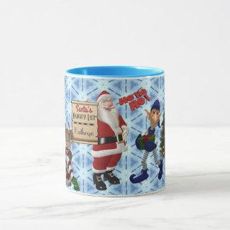 """Add Name """"Santa's Naughty List"""" Mug"""