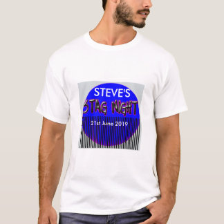 Add name STAG NIGHT Add date t-shirt