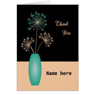 Add name thank you flowers personalized card