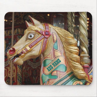 Add Name: Vintage Fairground Carousel Horse Mouse Pad