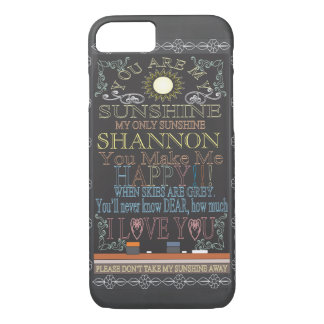 Add Name | You Are My Sunshine iPhone 8/7 Case
