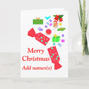 add names front christmas decorations card - Christmas Decorations Names