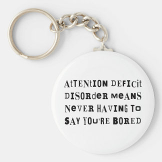 ADD Never Bored Keychain