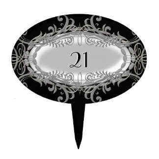 Add Number Grey Silver Black For Birthday Cake Cake Pick
