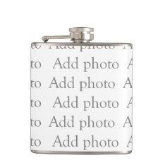 Add Our Own Photo Flask at Zazzle