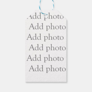 Add our own photo gift tag