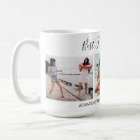 Add Own Text Script 3 Photo Collage Best Friends Coffee Mug