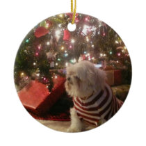 Add pet photo/person Christmas Tree Ornament