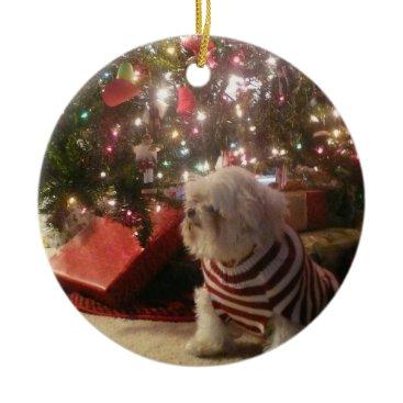 Christmas Themed Add pet photo/person Christmas Tree Ornament