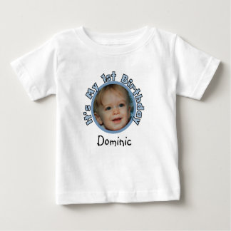 Add Photo and Name 1st Birthday T-shirt