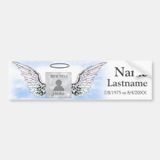 Add Photo and Name | Memorial Car Bumper Sticker
