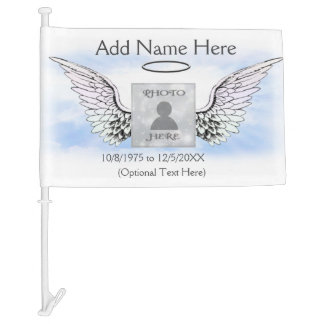 Add Photo and Name | Memorial Car Flag