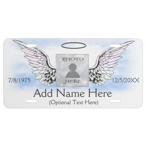 Add Photo and Name  Memorial License Plate