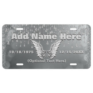 Add Photo and Name | Silver Tears License Plate