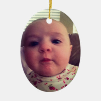Add Photo Baby Girl Christmas Tree Ornament