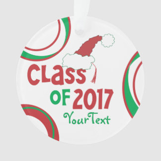 Add Photo Back Funny © Class 2017 Grad Tassel Ornament
