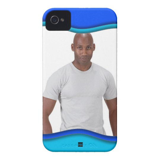 Add Photo Blue Curve Blackberry Bold Case