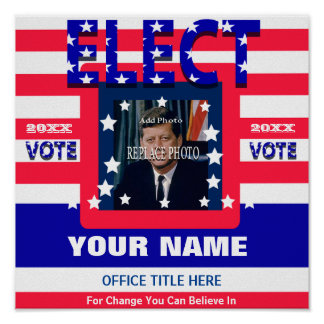Add Photo Campaign Template Election Poster