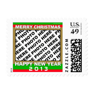 Add Photo Christmas New Year Postage