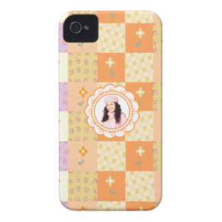 Add Photo Floral Patchwork Blackberry Case