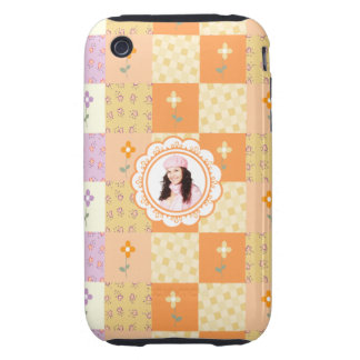 Add Photo Floral Patchwork iPhone 3G/3GS Case Tough iPhone 3 Covers