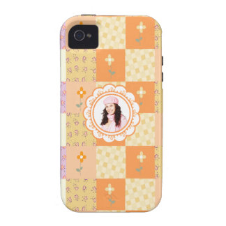 Add Photo Floral Patchwork iPhone 4/4S Case